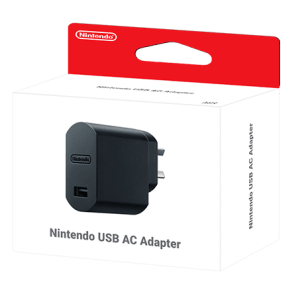 Switch: Nintendo USB AC Adapter (toimii myös SNES/NES Mini)