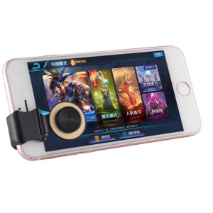 Mobiili: A9 Direct Mobile Clip Games Joystick Artifact Hand Travel Button Sucker with Ring Holder for iPhone, Android Phone, Tablet(Red)