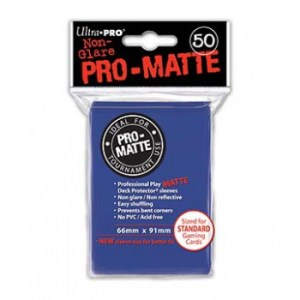 UP - Standard Sleeves - Pro-Matte - Non Glare - Blue (50 Sleeves)