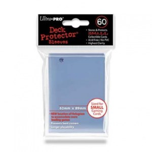 UP - Small Sleeves - Clear (60 Sleeves)