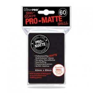 UP - Small Sleeves - Pro-Matte - Black (60 Sleeves)