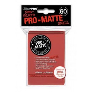 UP - Small Sleeves - Pro-Matte - Red (60 Sleeves)