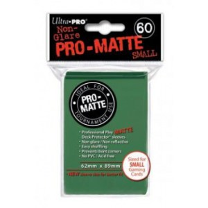 UP - Small Sleeves - Pro-Matte - Green (60 Sleeves)