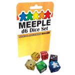 Meeple d6 Dice Set – Blue
