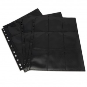 18-Pocket Pages - Black - Top Loading (50 pcs)