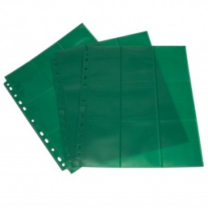 18-Pocket Pages - Green - Sideloading (50 pcs)