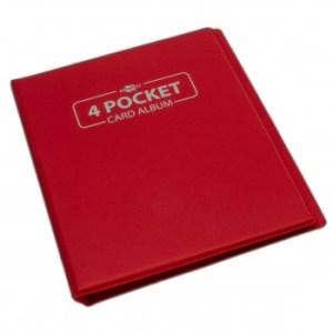 4 Pocket Card Album - Red