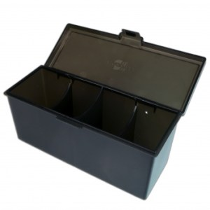 4-Compartment Storage Box - Black
