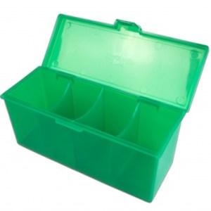 4-Compartment Storage Box - Green
