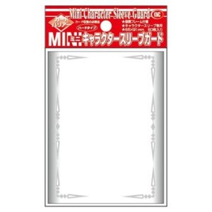 KMC Small Sleeves - Character Guard Clear with Florals 60 oversized Sleeves