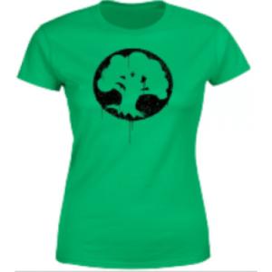 Magic The Gathering Green Mana Splatter Womens T-Shirt - Kelly Green - M