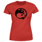 Magic The Gathering Red Mana Splatter Womens T-Shirt - Red - L