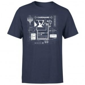 Magic The Gathering Card Grid T-Shirt - Navy - XXL