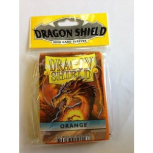 Dragon Shield Small Sleeves - Orange (50 Sleeves)