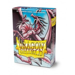Dragon Shield Small Sleeves - Japanese Matte Pink (60 Sleeves)