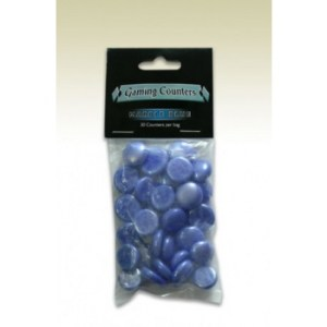 Dragon Shield - Opaque Gaming Counters - Marble Blue (30 pcs)
