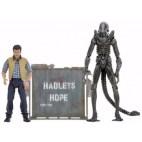Aliens 30th Anniversary - Hadleys Hope - Concept Xenomorph Warrior and Carter Burke 2-Pack Action Figure 18-23cm