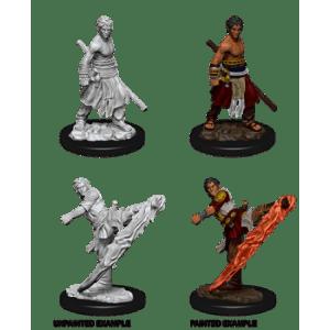 D&D Nolzurs Marvelous Miniatures - Male Half-Elf Monk (6 Units)