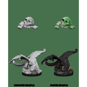 D&D Nolzurs Marvelous Miniatures - Black Dragon Wyrmling (6 Units)