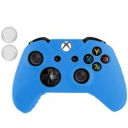 Xbox One: Protective Silicone Cover Case with 2 x Joystick Caps for Xbox One Joypad(Blue)