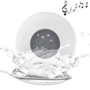 Waterproof Shower BTS-06 Mini Bluetooth Speaker (White)