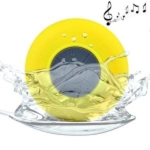 Waterproof Shower BTS-06 Mini Bluetooth Speaker (Yellow)