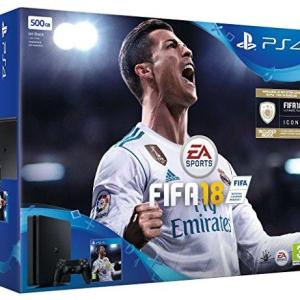 PS4: Playstation 4 konsoli 500GB Black FIFA 18 Bundle (UK)