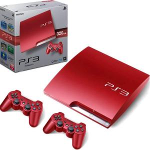 PS3: PlayStation 3 Slim konsoli 320GB Scarlet Red - Includes 2 x Dualshock 3 Ohjains (EU)