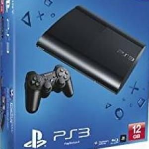 PS3: Playstation 3 Super Slim konsoli 12GB (EU) (Brand New but a few marks on the packaging)