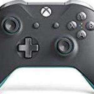 Xbox One: Xbox One Grey & Blue Ltd Edition Ohjain Wireless - With 3.5mm Stereo Headset Jack
