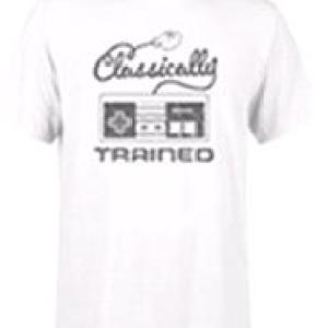 Nintendo Retro NES Classically Trained Mens White T-Shirt (LARGE)