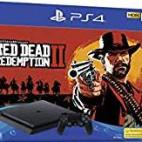 PS4: Playstation 4 konsoli - 500GB (Red Dead Redemption 2) (UK)