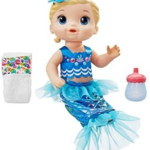 Baby Alive Shimmer N Splash Mermaid Blonde Hair