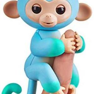 Fingerlings - Baby Monkey Ombre - Blue & Green Charlie /Figuuris