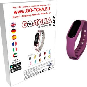 GO-TCHA Coloured Wristband for Pokemon Go (Gengar Purple) /Accessories
