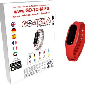 GO-TCHA Coloured Wristband for Pokemon Go (Pokéball Red) /Accessories