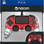 PS4: Nacon Wired Compact Ohjain [Clear Red]