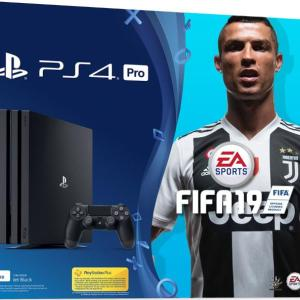 PS4: Playstation 4 Pro konsoli Slim 1TB + Fifa 19 (UK)(Damaged Packaging/Open)