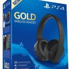 PS4: PS4 Official Sony Wireless Gold Headset 7.1 (Vaurioitut pakkaus)