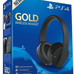 PS4: PS4 Official Sony Wireless Gold Headset 7.1 (Vaurioitut pakkaus)