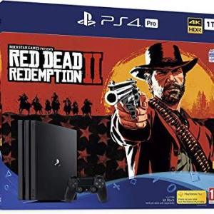 PS4: Playstation 4 konsoli - 1TB PRO (Red Dead Redemption 2) (UK) (Damaged/Open)