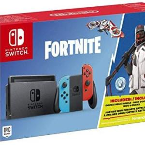 Switch: Nintendo Switch konsoli Neon Blue/Red Fortnite Edition (UK) (Käytetty/No Box)