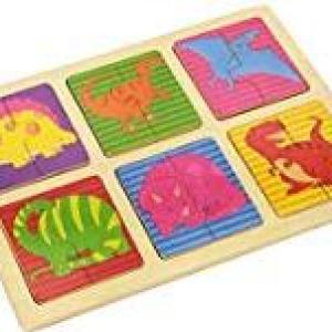 Andreu Toys 30 x 22.5 x 1 cm 4 Model Dinos Puzzle (Multi-Colour)