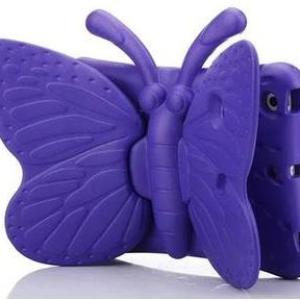3D Butterfly Kids Shockproof Cover- Purple /Case