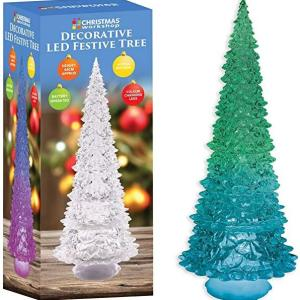 The Christmas Workshop Battery Operated Colour Changing LED Acrylic Tree /Lights
