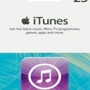 iTunes £25 Gift Card (latauskoodi)