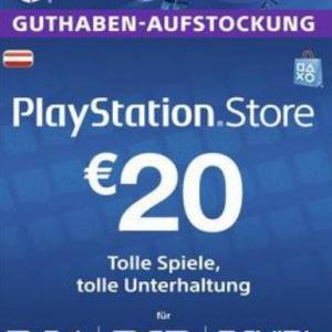 PS4: Playstation Network Card (PSN) 20€ (Austrian) (latauskoodi)