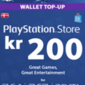 PS4: Playstation Network Card (PSN) 200 DKK (Denmark) (latauskoodi)