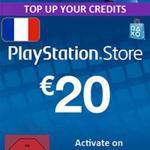 PS4: Playstation Network Card (PSN) 20 EUR (Ranska) (latauskoodi)