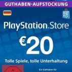 PS4: Playstation Network Card (PSN) 20 EUR (Saksa) (latauskoodi)